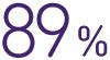 89 por ciento
