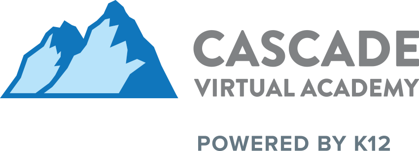 Logo of Cascade Virtual Academy - Powered by K12