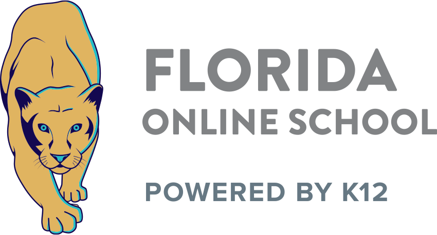 Logo of Florida Online School - Powered by K12