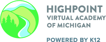Logo of Highpoint Virtual Academy of Michigan - Powered by K12