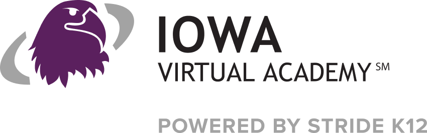 Logo of Iowa Virtual Academy - Powered by K12