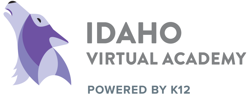 Logo of Idaho Virtual Academy - Powered by K12