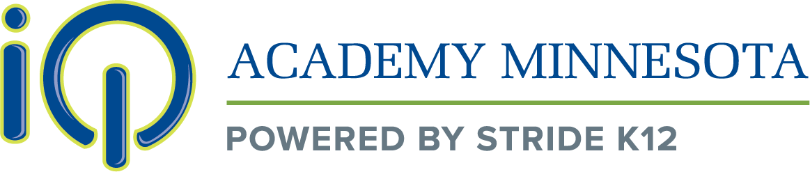 Logo of iQ Academy Minnesota - Powered by K12