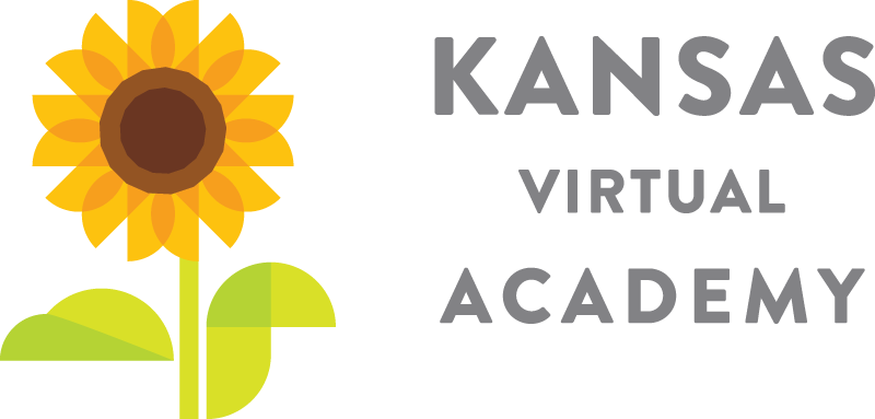 Logo of Kansas Virtual Academy - Powered by K12