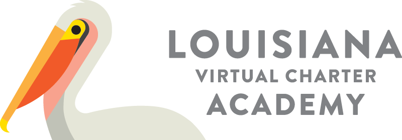 Logo of Louisiana Virtual Charter Academy - Powered by K12