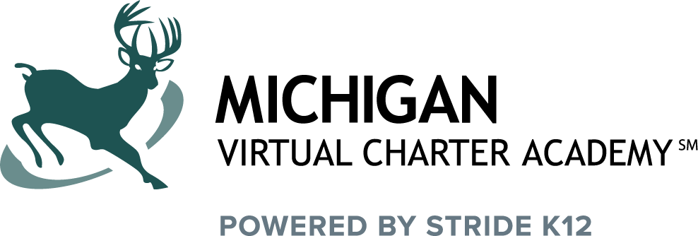 Logo of Michigan Virtual Charter Academy - Powered by K12