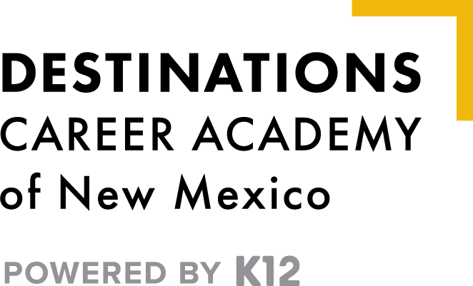 Logo of Destinations Career Academy of New Mexico - Powered by K12