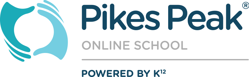 Logo of Pikes Peak Online School - Powered by K12