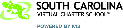 Logo of South Carolina Virtual Charter School - Powered by K12
