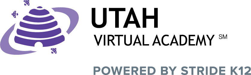Logo of Utah Virtual Academy - Powered by K12