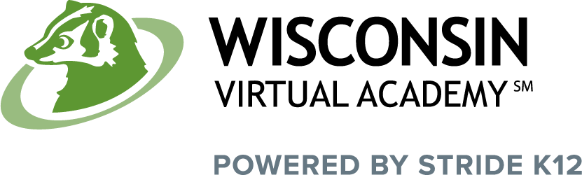 Logo of Wisconsin Virtual Academy - Powered by K12